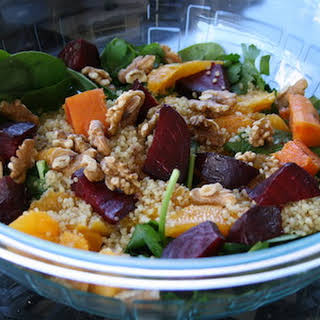 Orange and Beet Quinoa Salad.