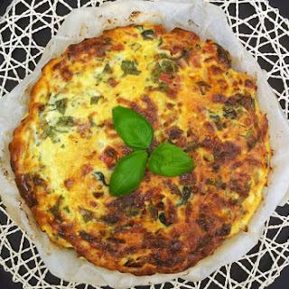 Leek & Spinach Crustless Quiche [vegetarian]