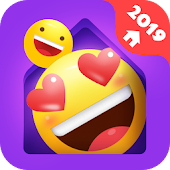 7.  IN Launcher - Love Emojis & GIFs, Themes