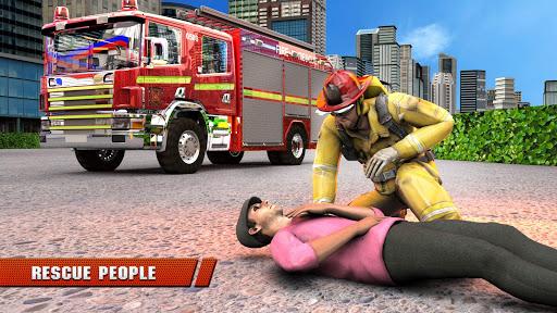 City Firefighter Truck conduite de sauvetage  captures d'écran 5