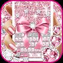 Pink Bow Diamond Luxury Keyboard Theme icon