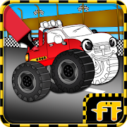 Monster Trucks Coloring Game