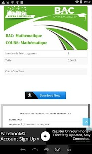 bac tunisie 2018 screenshot thumbnail - Resume Cours Science Bac Tunisie