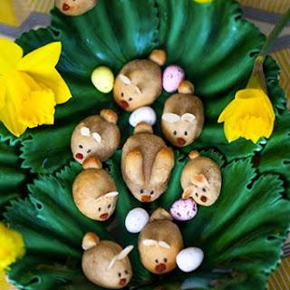 Marzipan Easter Bunnies.