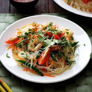 Thai Rice Noodle Salad with Chili-Lime Vinaigrette.