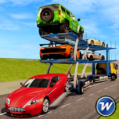 Car Transport Trailer Truck : Parking Game