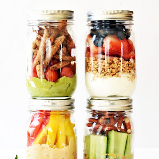 4 Healthy Grab-and-Go Snack Jars.
