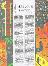 """Photo: Hilda Chanca, """"Un joven pintor,"""" CLUBS & COUNTRIES COMUNITARIOS, No. 15, Buenos Aires, September 1990 http://akermariano.blogspot.com/2012/12/mariano-akerman.html"""