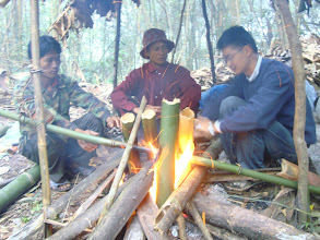 Photo: Cooking and boil water on the trekking trail