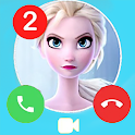 Elssa Princess fake Chat and Video Call icon