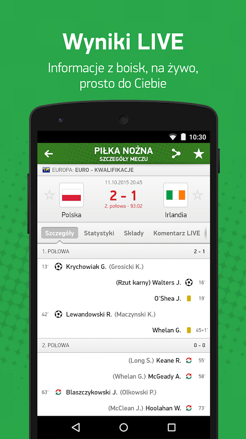 FlashScore - wyniki na żywo- screenshot