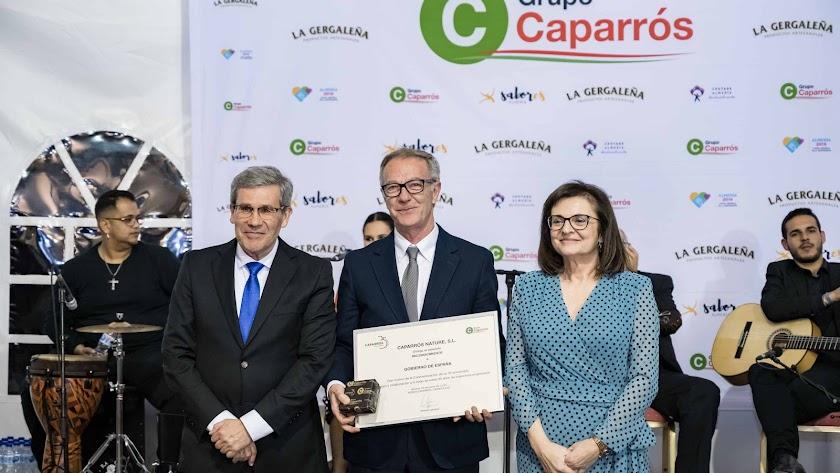 Pedro Caparrós y Ana Andújar con el ministro José Guirao