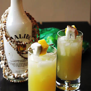 Coconut Pineapple Rum Drink.