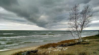 Photo: Lake Michigan, looking southwest from the Upper Peninsula, not far from Mackinac Bridge.