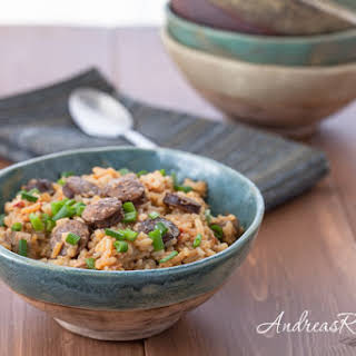 Slow-Cooker Chicken and Andouille Jambalaya.