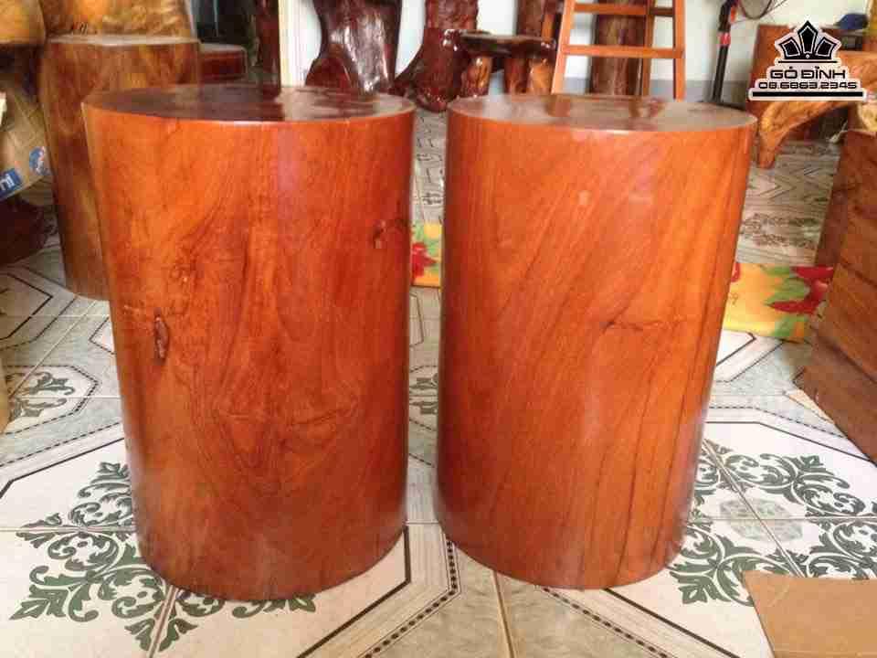 Đôn gỗ tiện trụ tròn