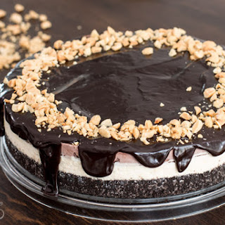 Chocolate Peanut Butter Ice Cream Cake