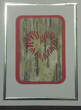 Photo: Love Card - V embroidery on birch bark $5 contact me to order (birch bark may vary)