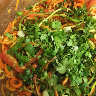 Spicy Thai Paleo Noodle Salad.