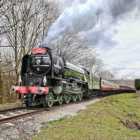 The Tornado doing what it does best !!  Steaming down the tracks  by Tony Munro - Transportation Trains ( railway, locomotive, easterweekend, summerseat, elr, travel, tornado, steam )
