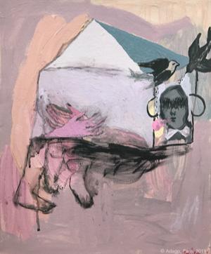 spleen-rose_Sophie-Lormeau_artiste_femme_paris_france_toile_peinture_acrylique_maison_salon_D_automne_2019_champs_elysees_synthese_art_contemporain