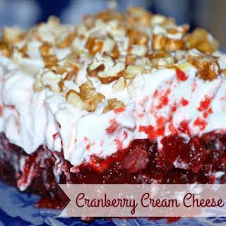 Cranberry Cream Cheese Dessert.
