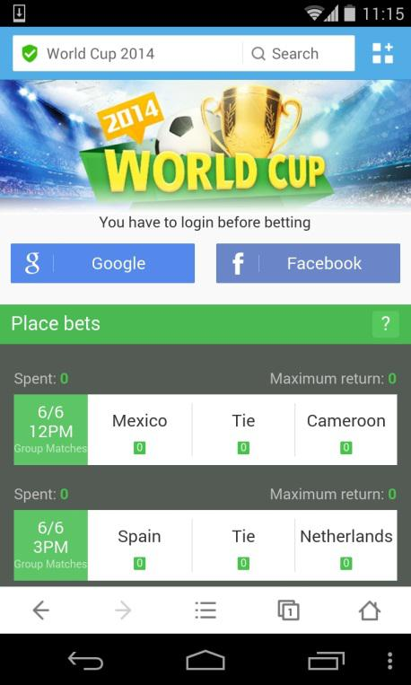 Win Rs  1 Crore with UC Browser's World Cup Bonanza - UC