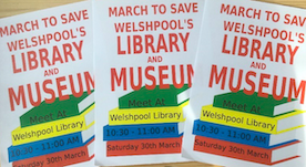 Fundraising page launched ahead of library march Saturday