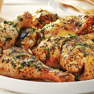 Grilled Chicken & Easy Lemon-Herb Sauce.