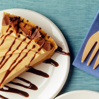 No Bake Peanut Butter Pie With Cream Cheese Filling.