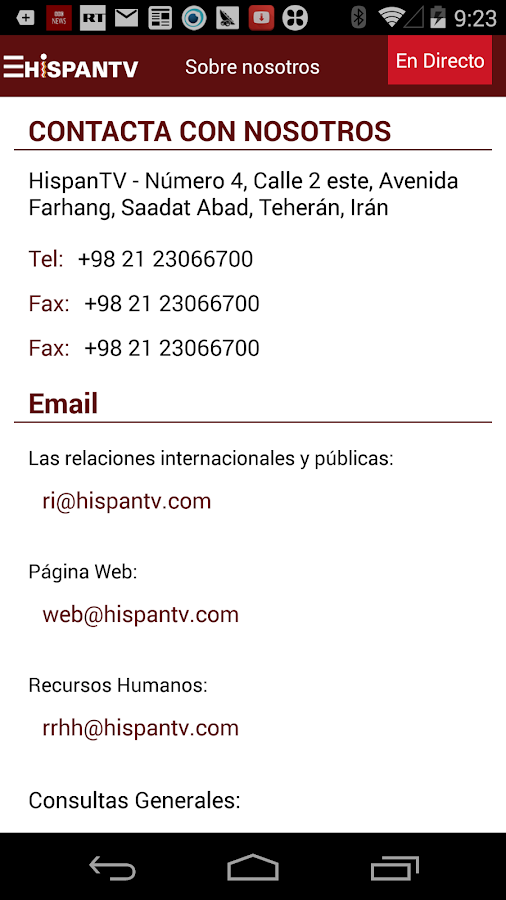 HispanTV- screenshot