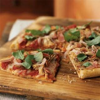 Roast Turkey and Prosciutto Pizza.