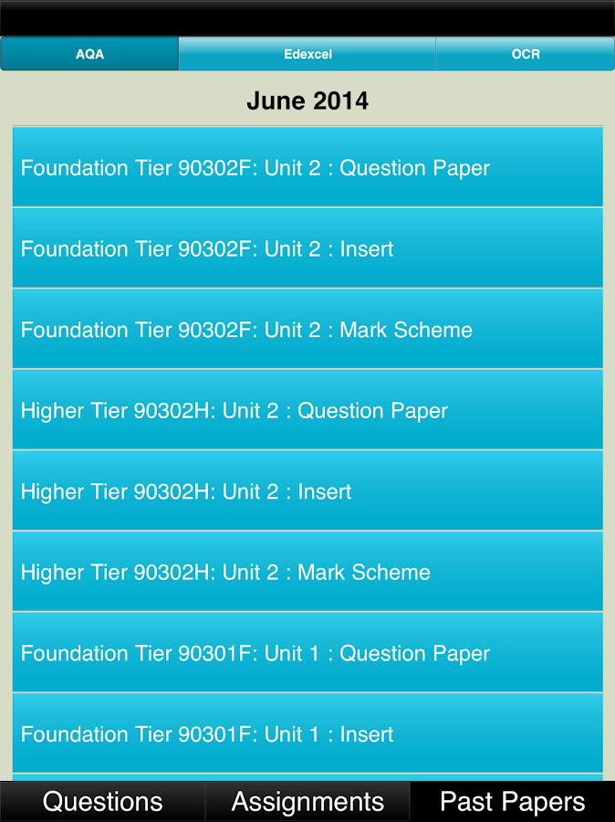 Find past papers and mark schemes aqa