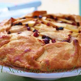 Apple Galette with Cranberries