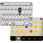 Black & Silver Emoji Keyboard Icon