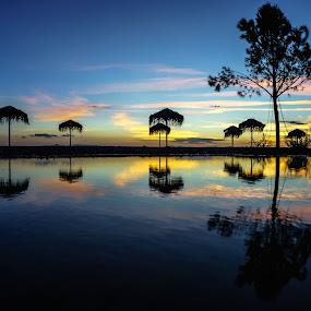 Blue hour! by Zisimos Zizos - Landscapes Sunsets & Sunrises ( bluehour, sunset, seascape, beach, shadows )