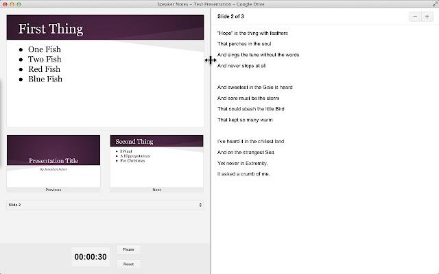 Resizable Speaker Notes - Google Slides