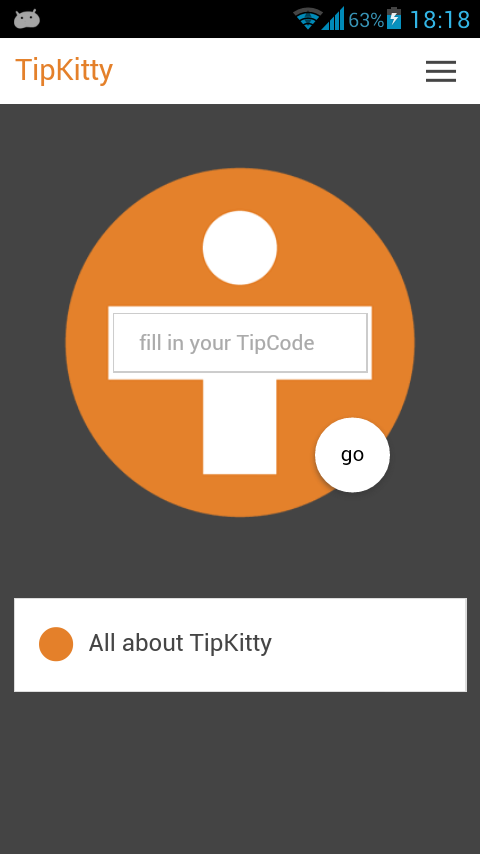 TipKitty, that's your own app!- screenshot