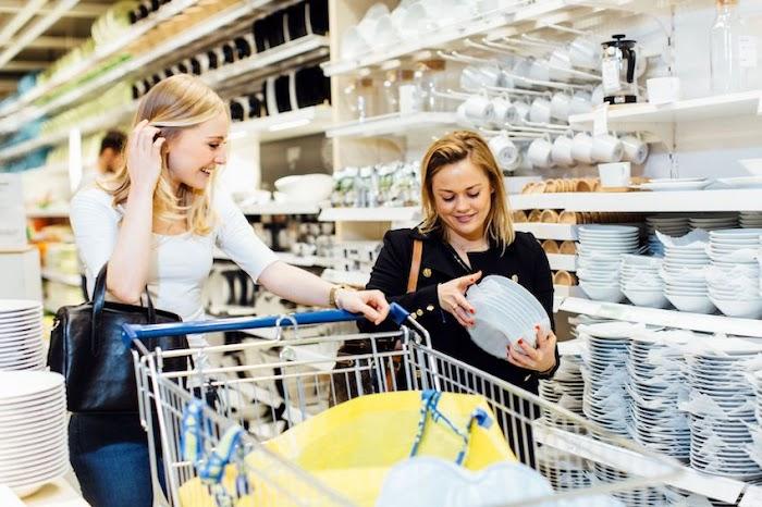 Women shopping at IKEA Germany