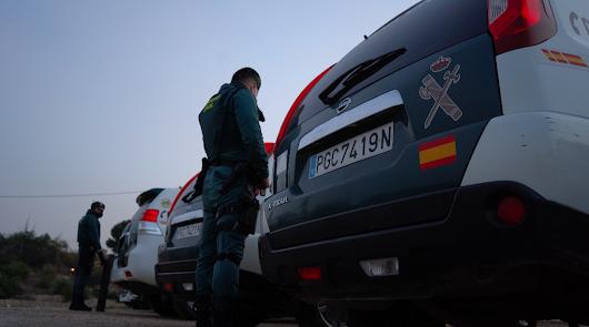 Vehículos de la Guardia Civil.