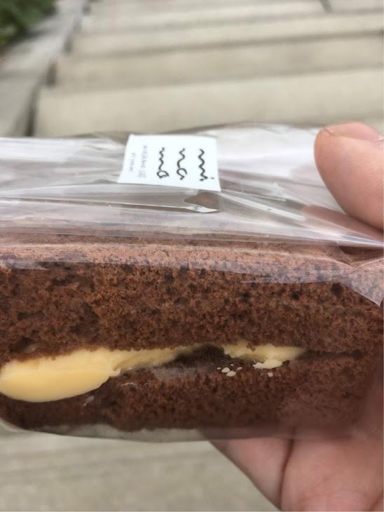 シフォンケーキのココアカスタード