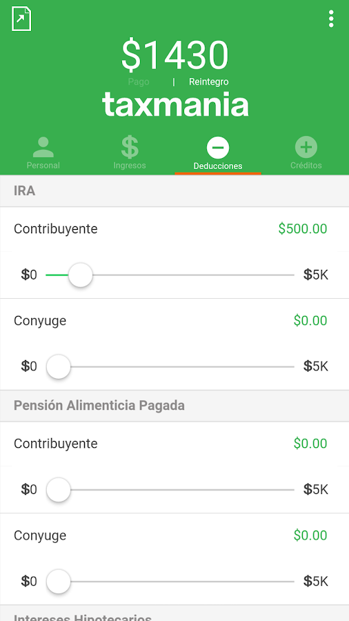 Taxmania Calculadora- screenshot