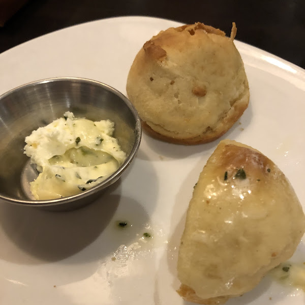 Gluten free rolls - you don't always get them but just be sure to ask and they'll definitely get them! The garlic butter is amazing!