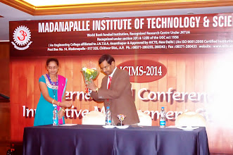 Photo: Dr. D. Pradeep Kumar, ICIMS Chair