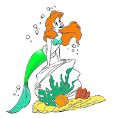 coloring book : mermaid