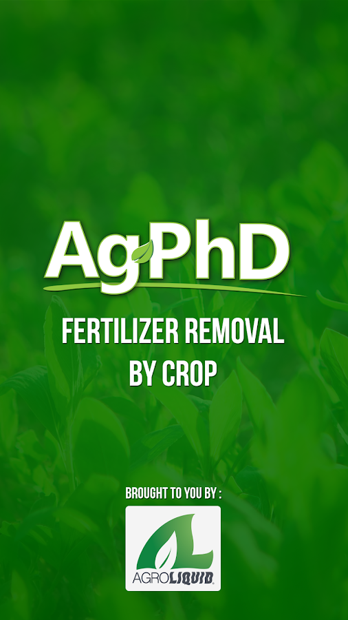 Fertilizer Removal By Crop- screenshot