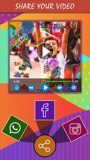 Holi HD Video Maker 2019  screenshots 5