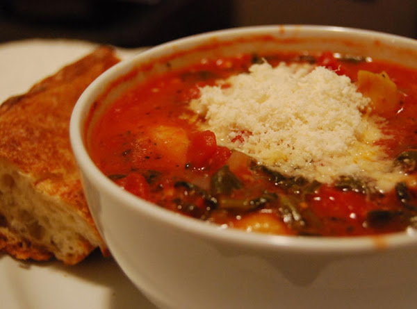 Chicken Tortellini Soup With Parmesan Recipe