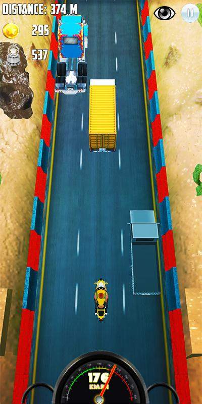 Screenshots of Subway Racing Moto for Android