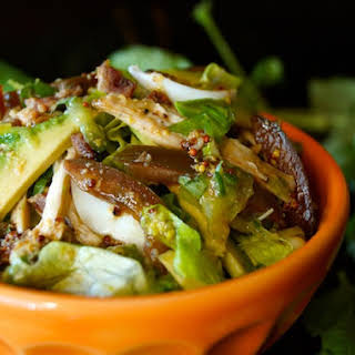 Shredded Chicken Cobb Salad Recipe with Citrus Vinaigrette.